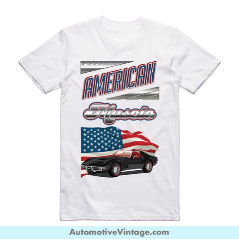 American Muscle 1970 Chevrolet Corvette Short Sleeve T-Shirt S / Front Of Shirt T-Shirt