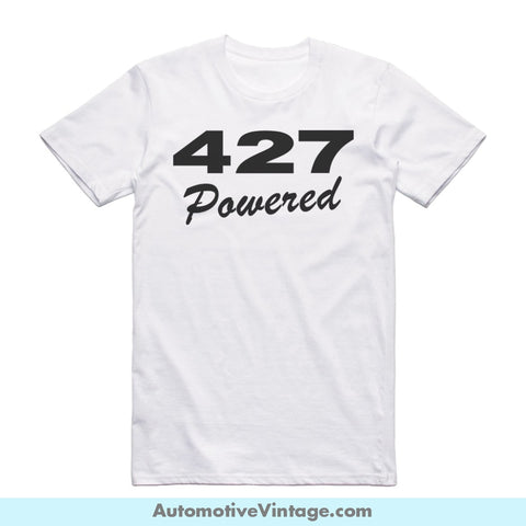Chevy Chevrolet 427 Emblem Engine Size Short Sleeve Car T-Shirt White / S Front Of Shirt T-Shirt