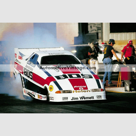 Al Hofmann Blower Drive Service Funny Car Full Color Drag Racing Photo 8.5 X 11