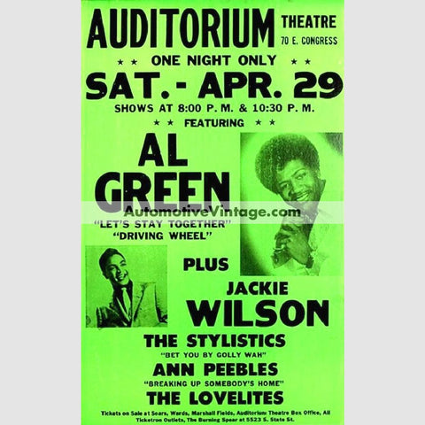 Al Green Nostalgic Music 13 X 19 Concert Poster Wide High