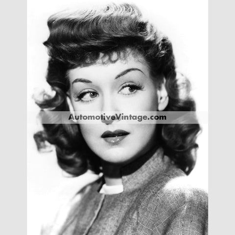 Ann Savage Glossy Black & White Vintage Movie Star Photo 8.5 X 11