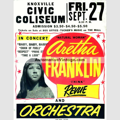 Aretha Franklin Nostalgic Music 13 X 19 Concert Poster Wide High
