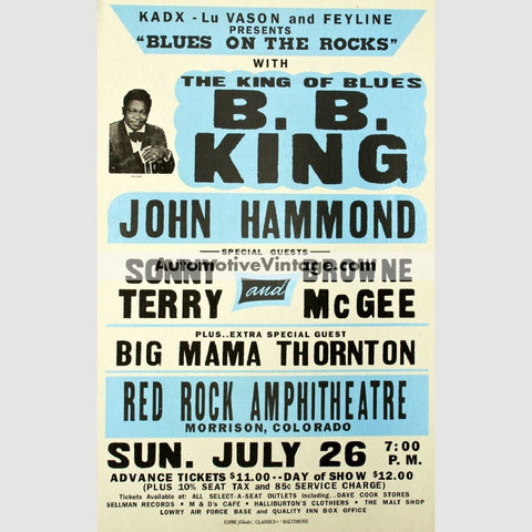 B.b. King Nostalgic Music 13 X 19 Concert Poster Wide High