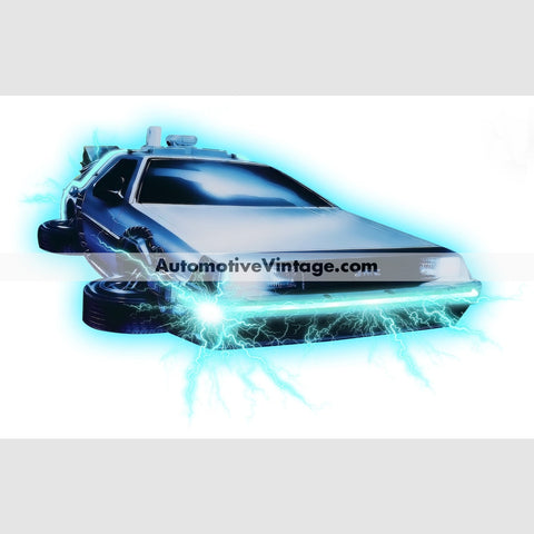 Back To The Future Delorean Indoor Car Wall Sticker 12 Wide / Matte Finish