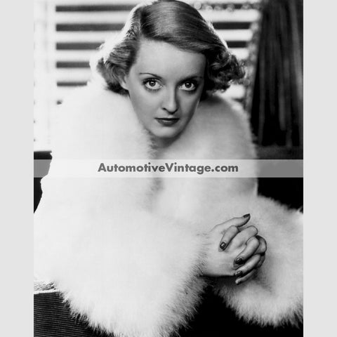 Bette Davis Glossy Black & White Vintage Movie Star Photo 8.5 X 11