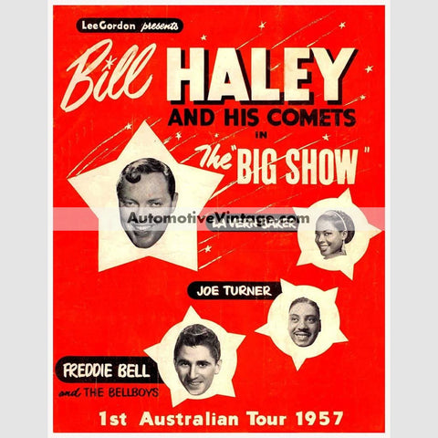 Bill Haley Nostalgic Music 13 X 19 Concert Poster Wide High
