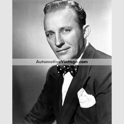 Bing Crosby Glossy Black & White Vintage Movie Star Photo 8.5 X 11