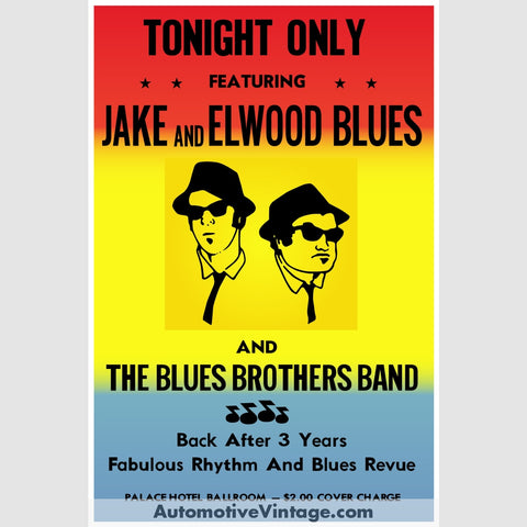 The Blues Brothers Nostalgic Music 13 X 19 Concert Poster Wide High