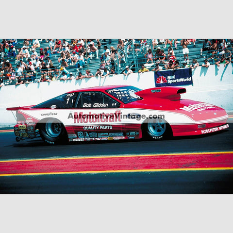 Bob Glidden Ford Probe Full Color Drag Racing Photo 8.5 X 11