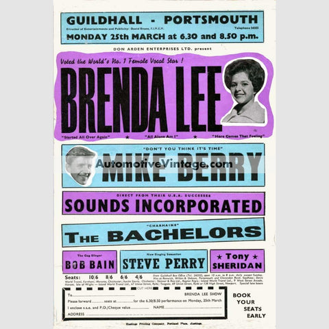 Brenda Lee Nostalgic Music 13 X 19 Concert Poster Wide High