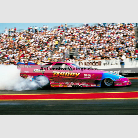 Bunny Burkett Funny Car Full Color Drag Racing Photo 8.5 X 11