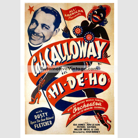 Cab Calloway Nostalgic Music 13 X 19 Concert Poster Wide High