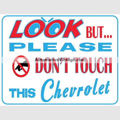 Chevrolet Look But Dont Touch Car Show Magnets (Pair)