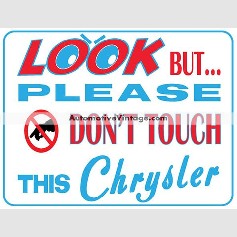 Chrysler Look But Dont Touch Car Show Magnets (Pair)