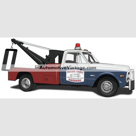 Dukes Of Hazzard Cooters Tow Truck Indoor Car Wall Sticker 12 Wide / Matte Finish