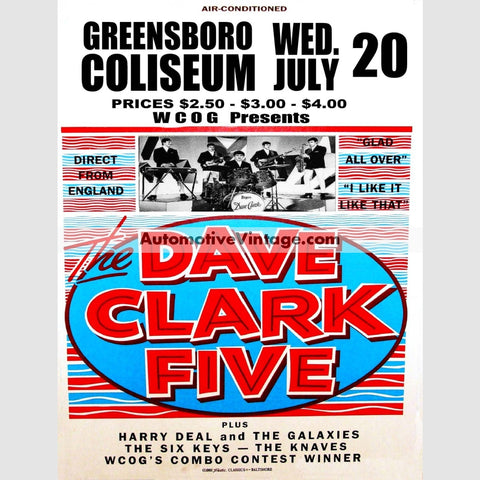 The Dave Clark Five Nostalgic Music 13 X 19 Concert Poster Wide High