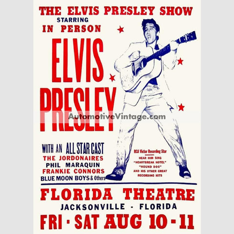 Elvis Presley Nostalgic Music 13 X 19 Concert Poster Wide High
