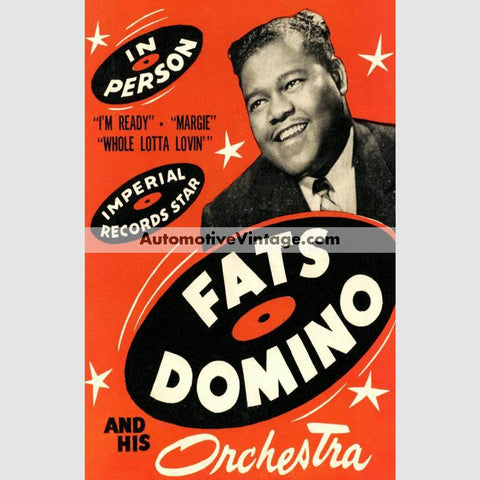 Fats Domino Nostalgic Music 13 X 19 Concert Poster Wide High
