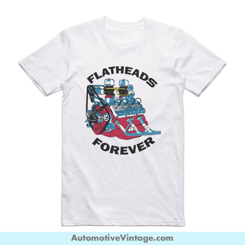 Flatheads Forever Ford Short-Sleeve Hot Rod Car T-Shirt
