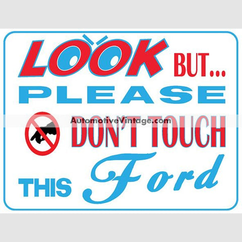 Ford Look But Dont Touch Car Show Magnets (Pair)