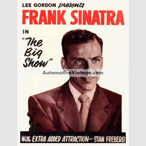 Frank Sinatra Nostalgic Music 13 X 19 Concert Poster Wide High