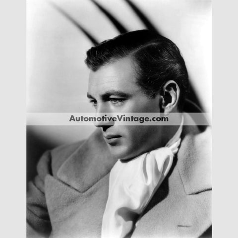Gary Cooper Glossy Black & White Vintage Movie Star Photo 8.5 X 11