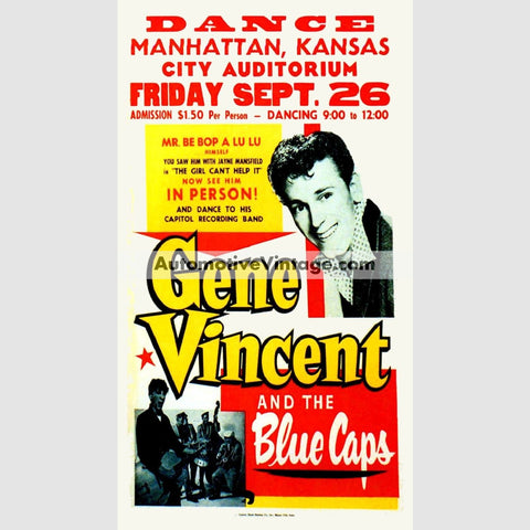 Gene Vincent Nostalgic Music 13 X 19 Concert Poster Wide High