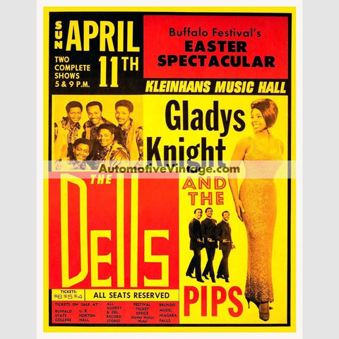 Gladys Knight And The Pips Nostalgic Music 13 X 19 Concert Poster Wide High