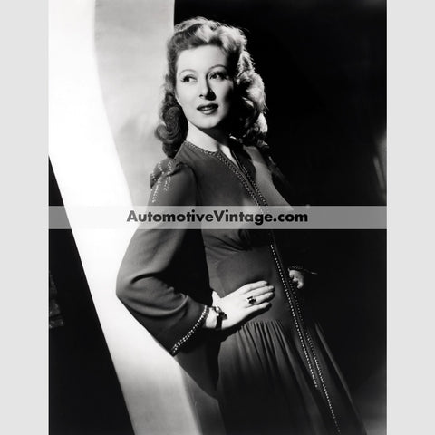 Greer Garson Glossy Black & White Vintage Movie Star Photo 8.5 X 11