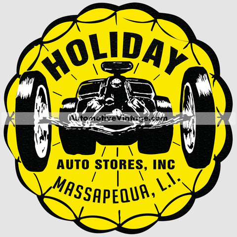 Holiday Auto Stores Parts Car Sticker Stickers