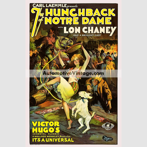 The Hunchback Of Notre Dame (1923) - Nostalgic Full Color Premium Movie Poster 18 Wide × 24 High