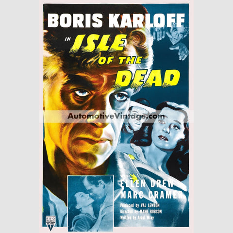 Isle Of The Dead (1945) - Nostalgic Full Color Premium Movie Poster 18 Wide X 24 High