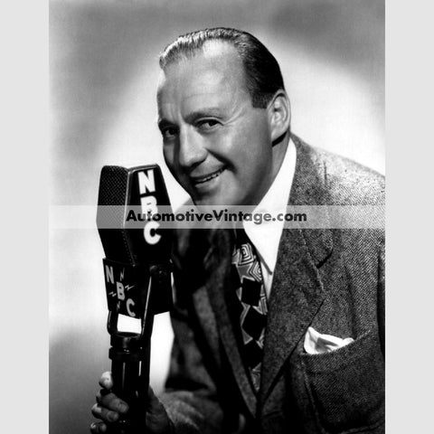 Jack Benny Glossy Black & White Vintage Movie Star Photo 8.5 X 11