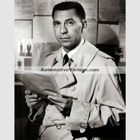 Jack Webb Glossy Black & White Vintage Movie Star Photo 8.5 X 11