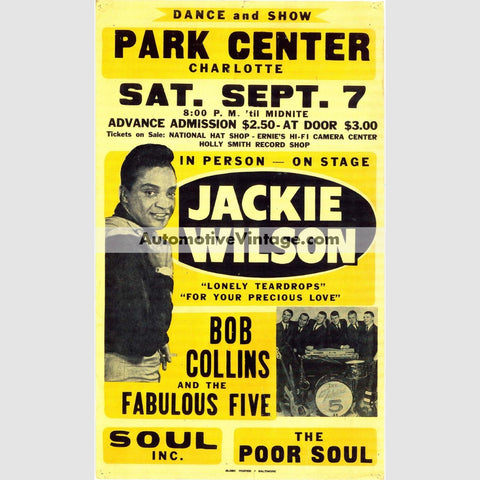 Jackie Wilson Nostalgic Music 13 X 19 Concert Poster Wide High
