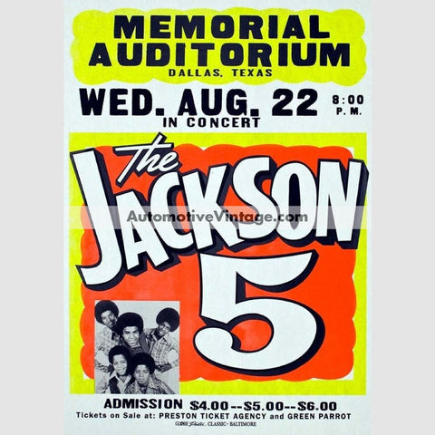 The Jackson Five Nostalgic Music 13 X 19 Concert Poster Wide High