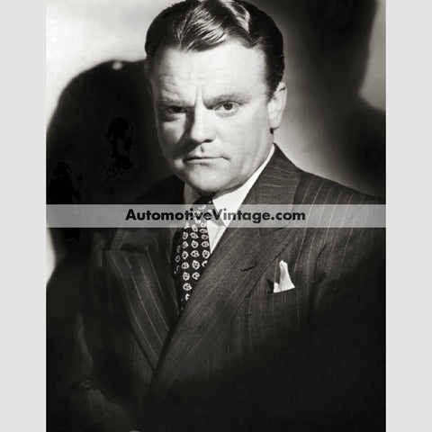 James Cagney Glossy Black & White Vintage Movie Star Photo 8.5 X 11