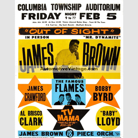James Brown Nostalgic Music 13 X 19 Concert Poster Wide High