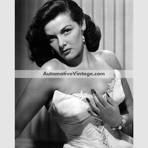 Jane Russell Glossy Black & White Vintage Movie Star Photo 8.5 X 11