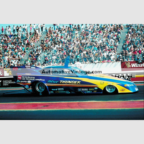 Jerry Caminito Blue Thunder Funny Car Full Color Drag Racing Photo 8.5 X 11