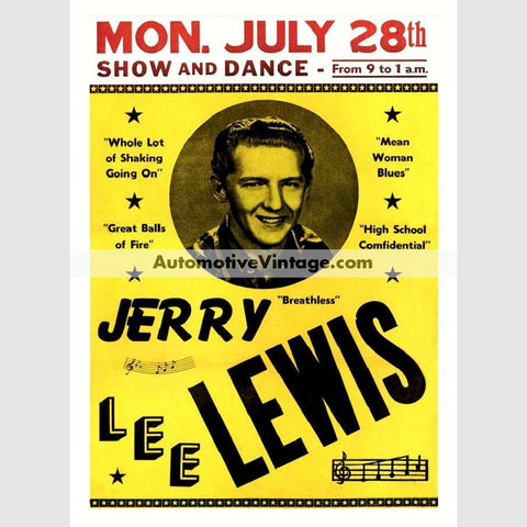 Jerry Lee Lewis Nostalgic Music 13 X 19 Concert Poster Wide High