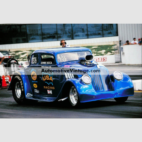 Johnny Rocca Willys Pro Modified Full Color Drag Racing Photo 8.5 X 11