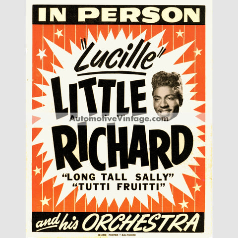 Little Richard Nostalgic Music 13 X 19 Concert Poster Wide High