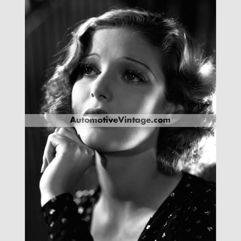 Loretta Young Glossy Black & White Vintage Movie Star Photo 8.5 X 11