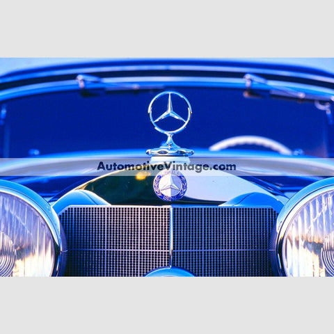 Vintage Mercedes Benz High Resolution Full Color Premium Car Poster 24 Wide X 18