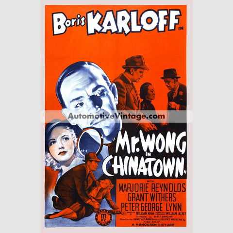 Mr. Wong In Chinatown (1939) - Nostalgic Full Color Premium Movie Poster 18 Wide × 24 High