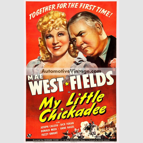 My Little Chickadee (1940) - Nostalgic Full Color Premium Movie Poster 18 Wide × 24 High