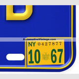 New York 1967 Vintage License Plate Registration Sticker