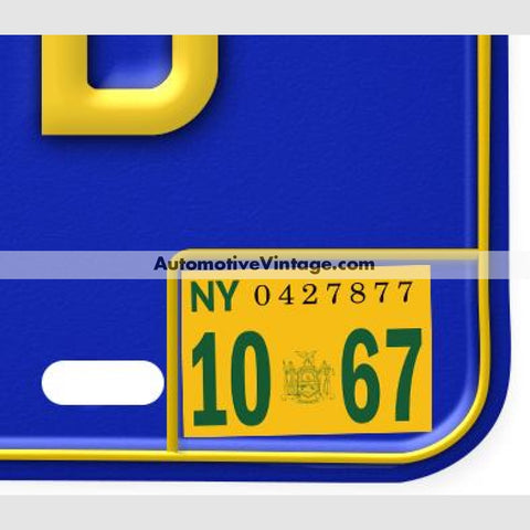 License Plate Stickers