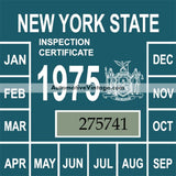 Vintage 1975 New York Windshield Inspection Sticker